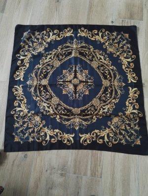 Kerchief gold-colored-dark blue