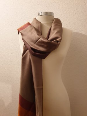 Armine Doek grijs-bruin-donker oranje
