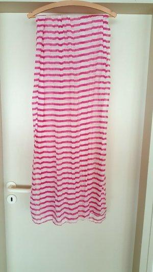 Halstuch von H&M pink weiß gestreift