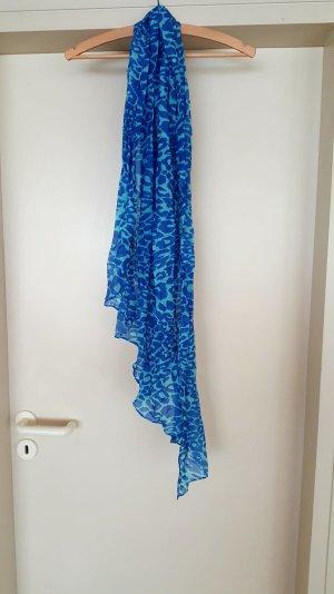 Halstuch von Hallhuber in blauem Leo