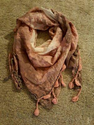 Halstuch von pieces in rosa grau
