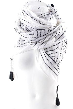 Neckerchief white-blue minimalist style