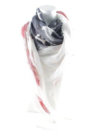 Halsdoek wit-rood casual uitstraling