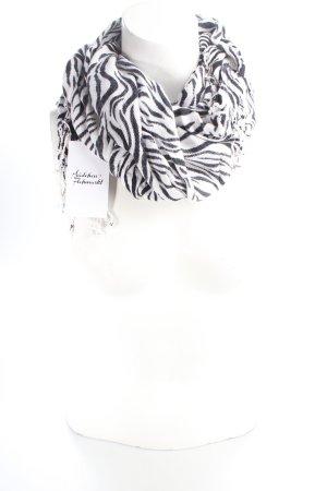 Halstuch weiß-schwarz Animalmuster Street-Fashion-Look