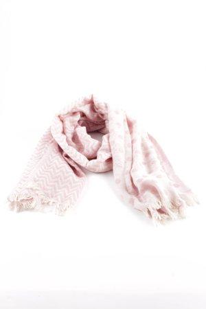 Halsdoek wolwit-stoffig roze Patroon-mengeling casual uitstraling