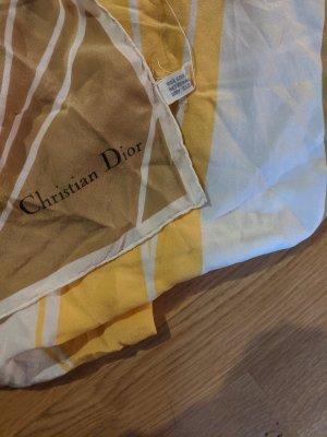 Christian Dior Fazzoletto da collo bianco-sabbia