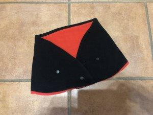 Écharpe tube noir-rouge