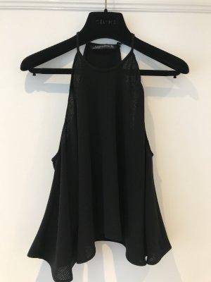 Zara Top estilo halter negro tejido mezclado