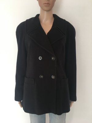 Hammer Heavy Pea Coat black wool