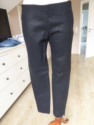 Edc Esprit Leather Trousers black imitation leather