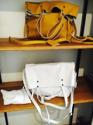 HAMMER Ledertasche Handtasche Shopper Ledershopper senf NEU Firenze