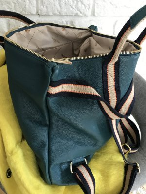 Borse in Pelle Italy Laptop Backpack steel blue leather