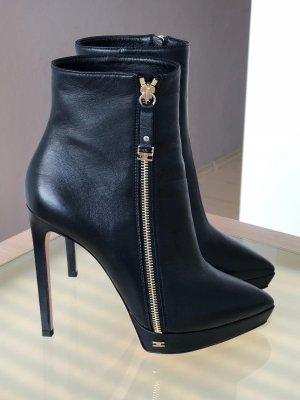 Elisabetta Franchi Platform Booties black
