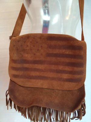 Fringed Bag brown-cognac-coloured leather