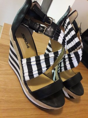 Wedge Sandals white-black