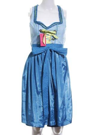 Hammerschmid Dirndl bleu motif à carreaux style mouillé