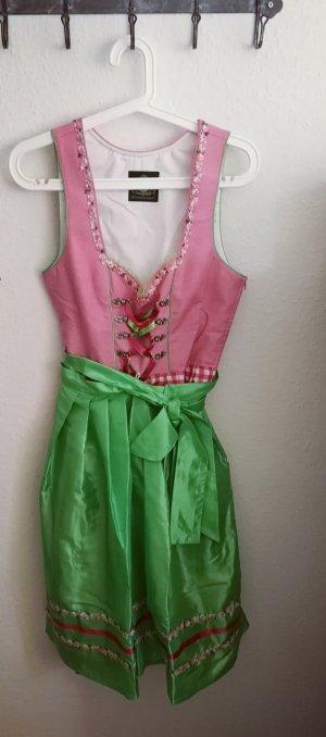 Hammerschmid Vestido Dirndl rosa-verde Algodón