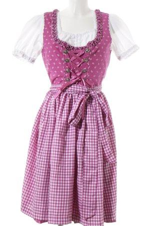 Hammerschmid Vestido Dirndl rosa-blanco estampado floral brillante