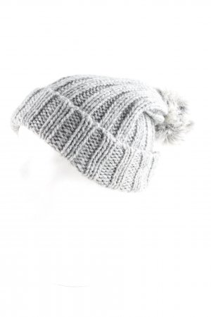 Hammerschmid Fur Hat grey-light grey weave pattern casual look