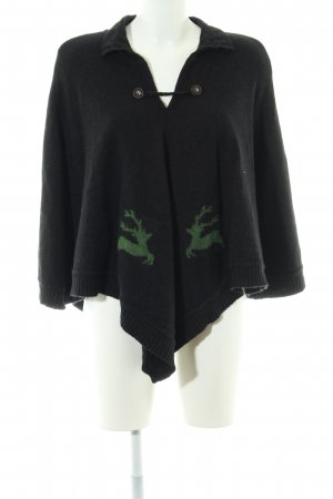 Hammerschmid Poncho black-green casual look
