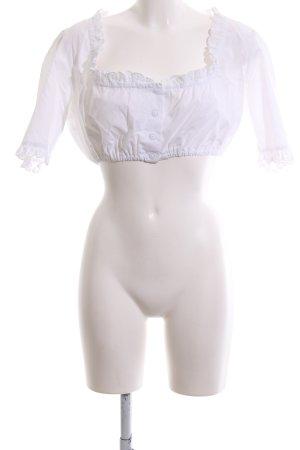 Hammerschmid Blusa folclórica blanco estilo clásico