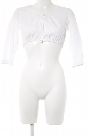 Hammerschmid Blusa tradizionale bianco Bottoni in madreperla
