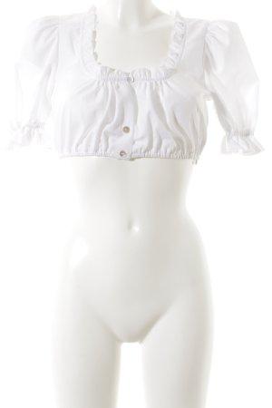 Hammerschmid Folkloristische blouse wit simpele stijl