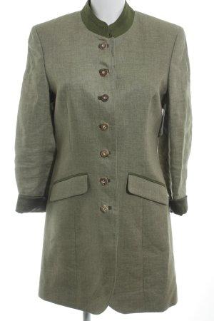 Hammerschmid Folkloristische jas grasgroen gestippeld klassieke stijl