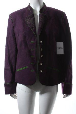 Hammerschmid Veste bavaroise violet-vert motif floral style campagnard