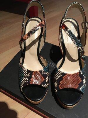Hammerstein Platform High-Heeled Sandal multicolored leather