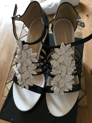 Hammerstein Platform High-Heeled Sandal black-white