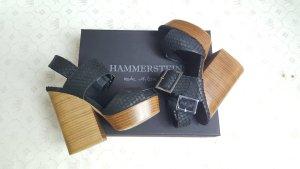 Hammerstein Wedge Sandals black