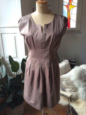 Cocktail Dress grey brown cotton