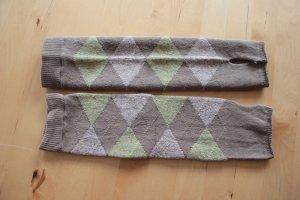 Falke Gloves khaki-grey brown mixture fibre