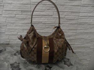 Hand Tasche Gucci GG Guccissima Brown CRYSTAL Neuwertig