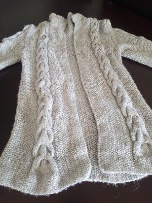 Veste en tricot gris clair