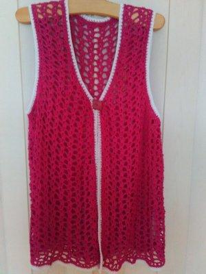 Crochet Cardigan magenta