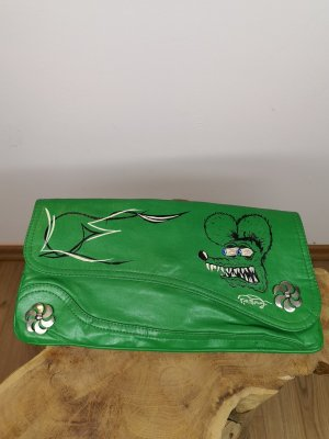 Handbemalte Vintage Clutch Rat Fink Pin Stripe