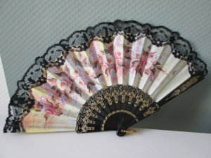 Hand Fan multicolored