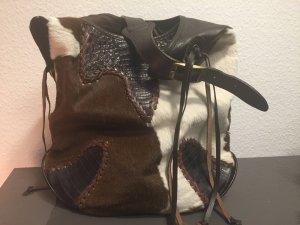 Handgearbeitete Naturledertasche
