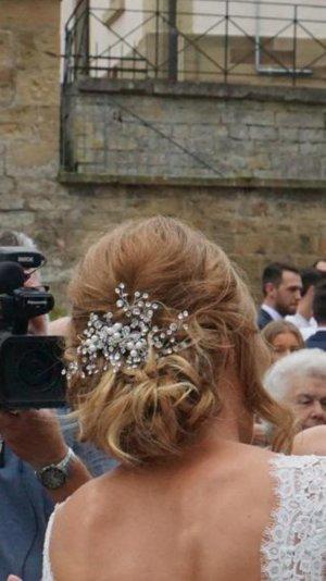 Handgefertigte Brauthaarspange mit  Swarovski Steinen