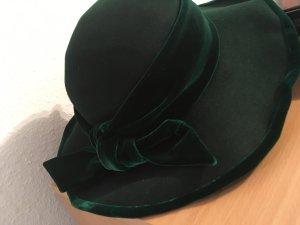 Cappello in feltro verde bosco