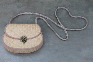 Handgefertigte Umhängetasche aus Naturmaterialien NEU