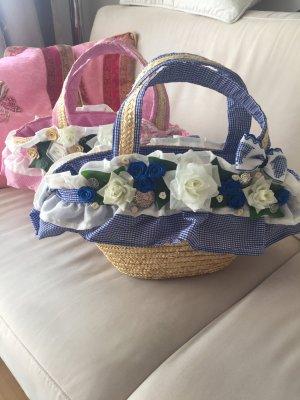 Handgefertigte wunderschöne Strohtaschen in Rose und hellblau