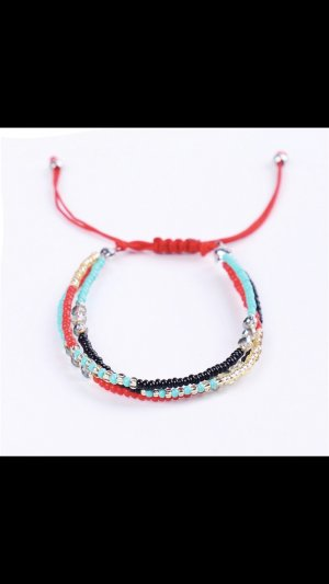 Armband rood-blauw