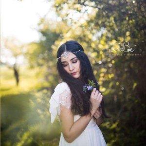 Spilla per capelli argento-bianco