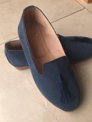 Handgemachte blaue Loafer aus Marrakesch Gr.37,5