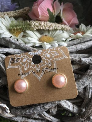 Ear stud silver-colored-pink