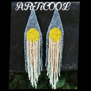 Art Earring white-yellow
