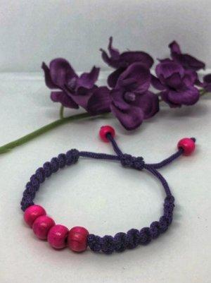 Bangle donkerpaars-roze